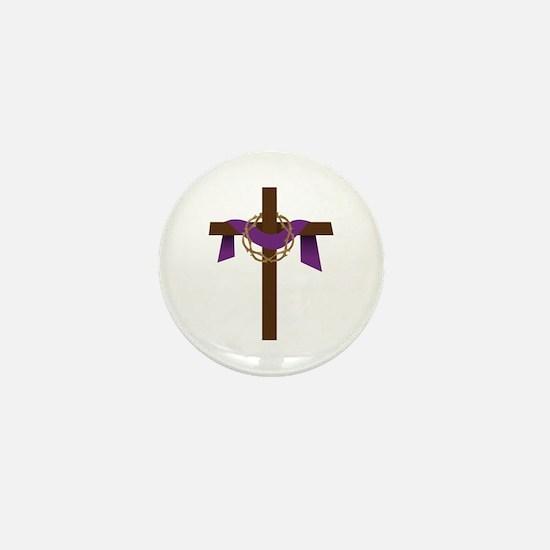 Season Of Lent Cross Mini Button