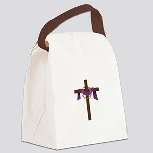 Season Of Lent Cross Canvas Lunch Bag
