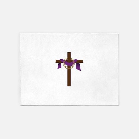 Season Of Lent Cross 5'x7'Area Rug