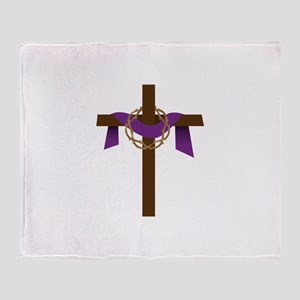Season Of Lent Cross Throw Blanket