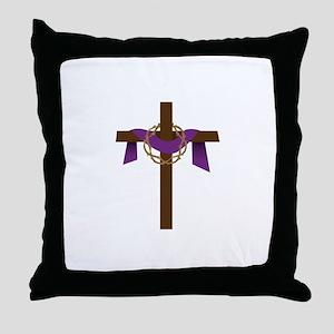 Season Of Lent Cross Throw Pillow
