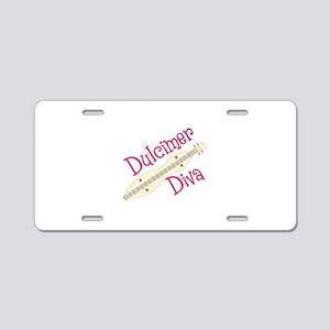 Dulcimer Diva Aluminum License Plate
