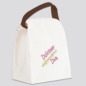 Dulcimer Diva Canvas Lunch Bag