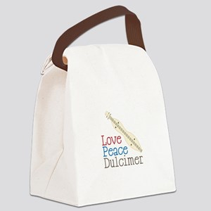 Love Peace Dulcimer Canvas Lunch Bag