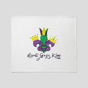 Mardi Gras King Throw Blanket