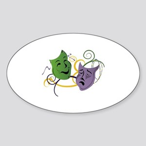 Mardi Gras Face Masks Sticker