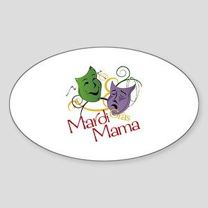 Mardi Gras Mama Sticker