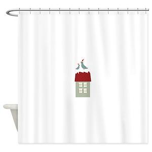 Birdhouse Shower Curtains