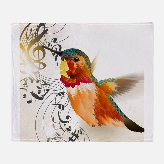 SONG BIRD Throw Blanket