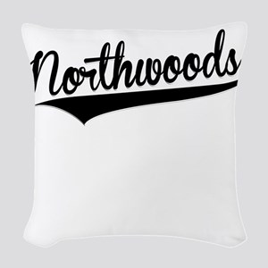 Northwoods, Retro, Woven Throw Pillow