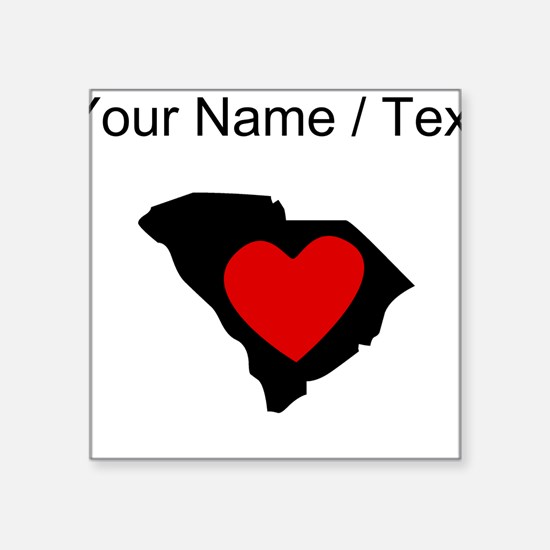 Custom South Carolina Heart Sticker