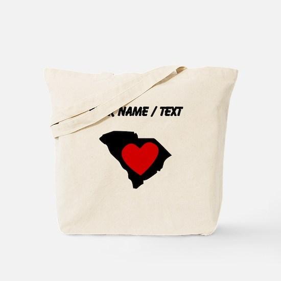 Custom South Carolina Heart Tote Bag