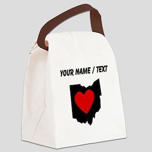 Custom Ohio Heart Canvas Lunch Bag