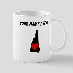 Custom New Hampshire Heart Mugs