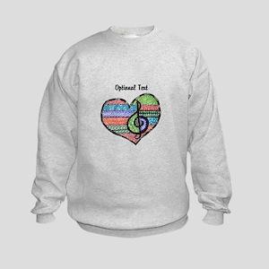 Customizable Music Heart Treble Cl Kids Sweatshirt