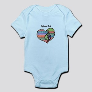 Customizable Music Heart Treble Cl Infant Bodysuit