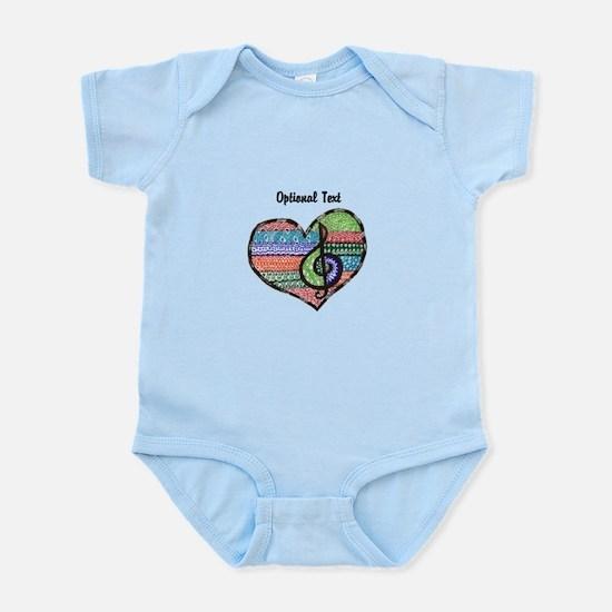 Customizable Music Heart Treble Cl Infant Bodysuit