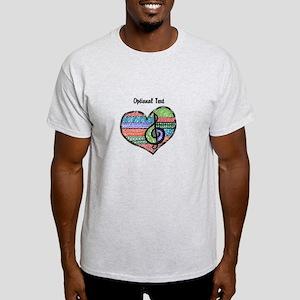 Customizable Music Heart Treble Clef Light T-Shirt