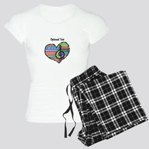 Customizable Music Heart Tr Women's Light Pajamas