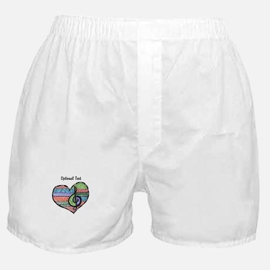 Customizable Music Heart Treble Clef Boxer Shorts