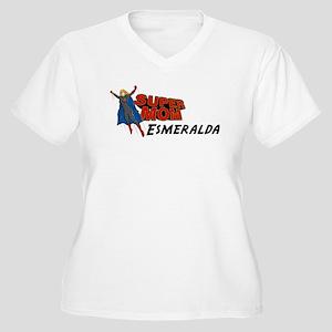 Supermom Esmeralda Women's Plus Size V-Neck T-Shir