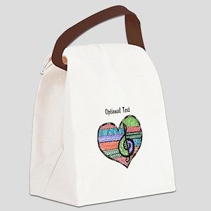 Customizable Music Heart Treble C Canvas Lunch Bag