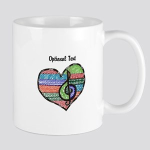 Customizable Music Heart Treble Clef Mug