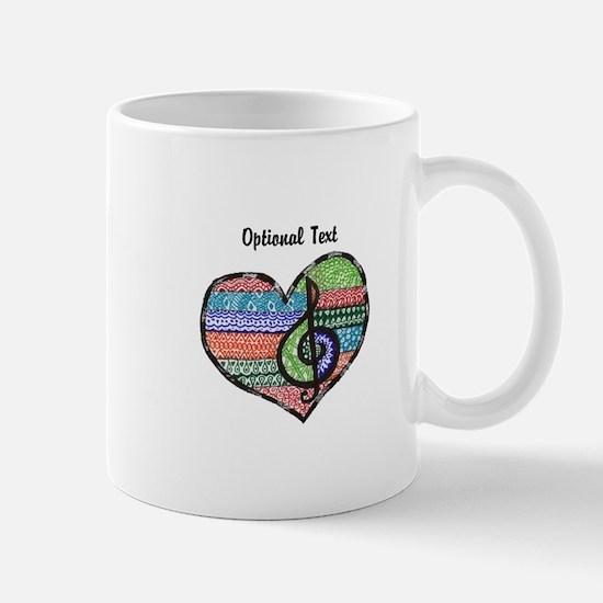 Customizable Music Heart Treble Clef Mug