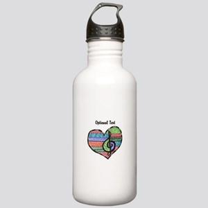 Customizable Music Hea Stainless Water Bottle 1.0L