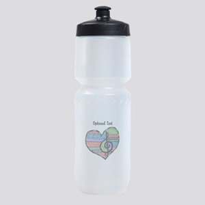 Customizable Music Heart Treble Clef Sports Bottle