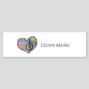 Customizable Music Heart Treble C Sticker (Bumper)