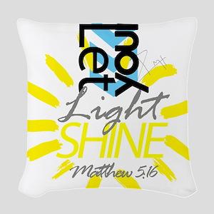 Matthew 5:16 Woven Throw Pillow