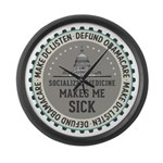 Defund Obamacare Large Wall Clock