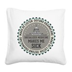 Defund Obamacare Square Canvas Pillow