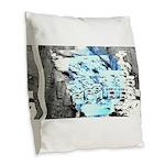 Freezing Burlap Throw Pillow