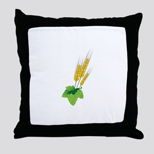 Barely Beer Brewer Throw Pillow