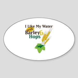 I Like My Water with Barley Hops Sticker