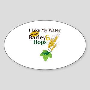 I Like My Water with Barley Hops Sticker