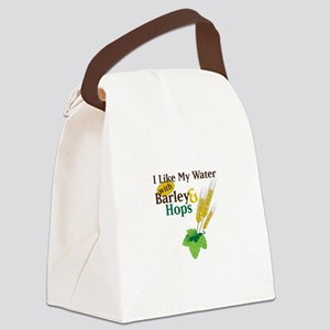I Like My Water with Barley Hops Canvas Lunch Bag