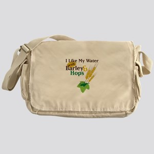 I Like My Water with Barley Hops Messenger Bag