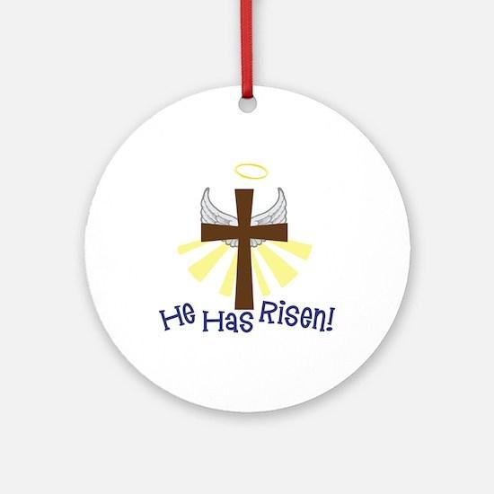 He Has Risen Ornament (Round)