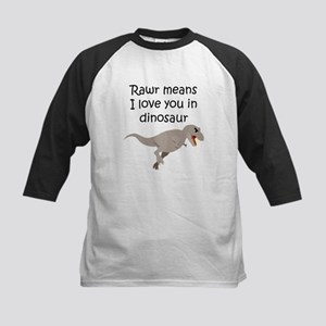 Rawr Means I Love You In Dinosaur Baseball Jersey