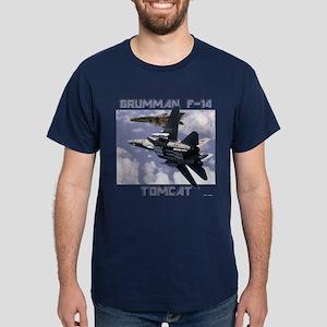 F-14 Tomcat v MiG21 Dark T-Shirt