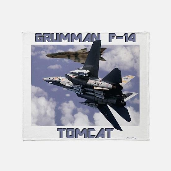 F-14 Tomcat v MiG21 Throw Blanket