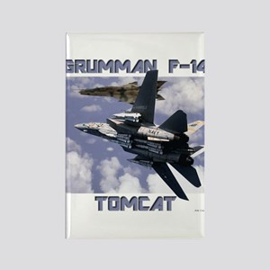 F-14 Tomcat v MiG21 Rectangle Magnet