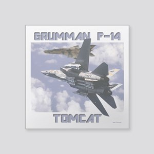 "F-14 Tomcat v MiG21 Square Sticker 3"" x 3"""