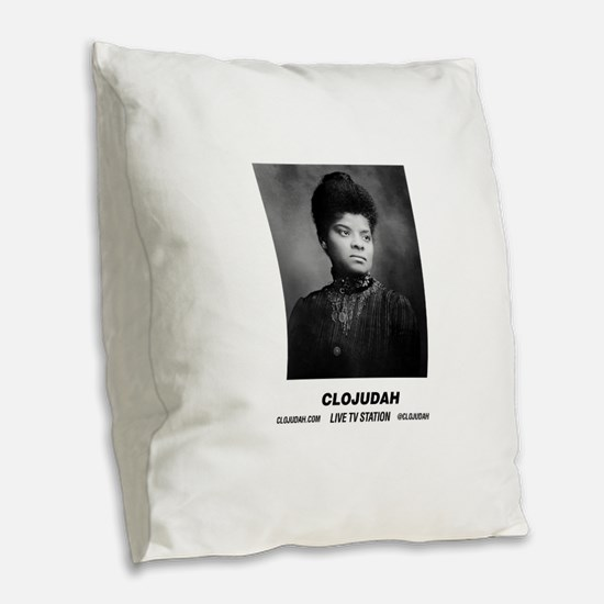 CLOJudah Ida B. Wells Burlap Throw Pillow
