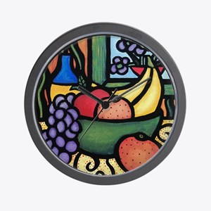 Colorful Still Life Wall Clock