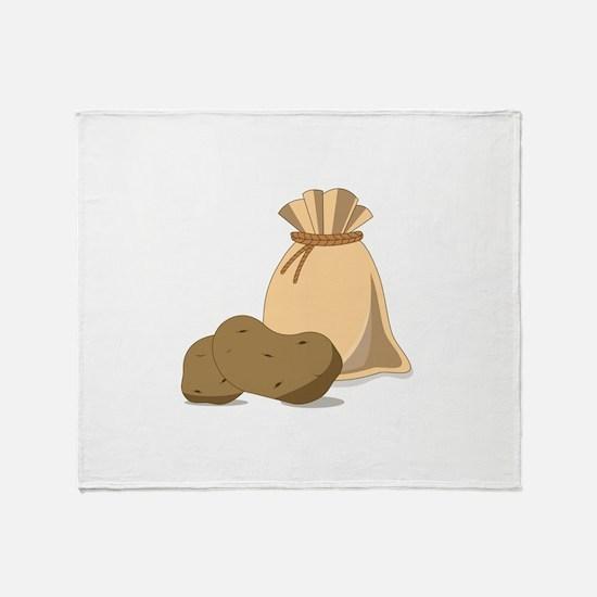Potato Bag Throw Blanket