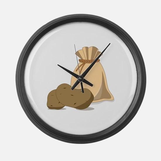 Potato Bag Large Wall Clock